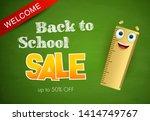 welcome  back to school  sale... | Shutterstock .eps vector #1414749767
