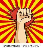 a pop art cartoon comics poster ... | Shutterstock . vector #1414750247