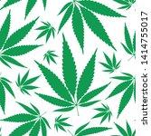 hemp leaves seamless repetitive ... | Shutterstock .eps vector #1414755017