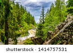 forest wild river in mountains. ... | Shutterstock . vector #1414757531