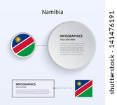 namibia country set of banners...