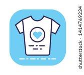donate clothes line color icon. ...