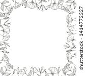 decorative square frame with... | Shutterstock . vector #1414772327