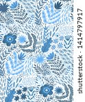 folk pattern  seamless textile... | Shutterstock .eps vector #1414797917