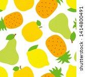 Exotic Fruit Seamless Pattern....