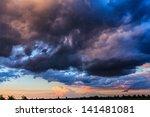 Dark Storm Clouds On Evening Sky