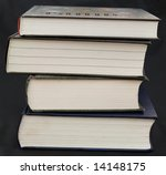 some thick books on a black... | Shutterstock . vector #14148175