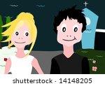 just married   vector. | Shutterstock .eps vector #14148205