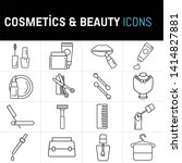 simple set of cosmetics related ... | Shutterstock .eps vector #1414827881