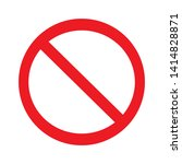 no allowed sign.prohibition... | Shutterstock .eps vector #1414828871