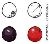 vector set of sketch and...   Shutterstock .eps vector #1414830077