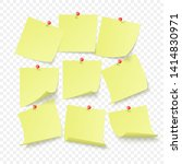 set of yellow office stickers... | Shutterstock .eps vector #1414830971