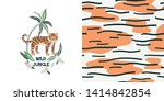 animal print vector color... | Shutterstock .eps vector #1414842854