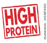 high protein sign or stamp on... | Shutterstock .eps vector #1414874201