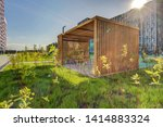 wooden arbor. modern wooden... | Shutterstock . vector #1414883324