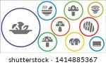 prepare icon set. 9 filled... | Shutterstock .eps vector #1414885367