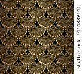 art deco pattern. seamless...   Shutterstock .eps vector #1414889141