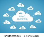cloud computing technology... | Shutterstock .eps vector #141489301