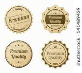 retro vintage labels set.... | Shutterstock .eps vector #141489439