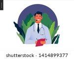 medical insurance template ... | Shutterstock .eps vector #1414899377