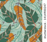 tropical seamless pattern with... | Shutterstock .eps vector #1414900247