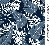 tropical seamless pattern with... | Shutterstock .eps vector #1414900274