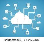 cloud computing technology... | Shutterstock .eps vector #141492301