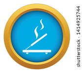 Incense Sticks Icon Blue Vector ...