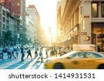 new york city yellow taxi cab...   Shutterstock . vector #1414931531