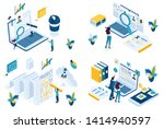 set isometric concept search... | Shutterstock .eps vector #1414940597