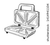 sketch sandwich toaster on a... | Shutterstock .eps vector #1414941104
