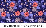 painting illustration with... | Shutterstock . vector #1414944641
