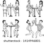 vector illustration of social... | Shutterstock .eps vector #1414946801