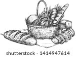 vector illustration of bakery... | Shutterstock .eps vector #1414947614