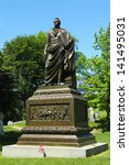 Small photo of BROOKLYN, NY - JUNE 4: Governor DeWitt Clinton monument at Green-Wood cemetery in Brooklyn on June 4, 2013. He was United States Senator, New York City Mayor and New York State Governor