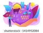 smart eco farm  remote control...   Shutterstock .eps vector #1414952084