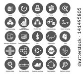 big data icons set for business ...