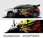 rally car decal graphic wrap...   Shutterstock .eps vector #1414976441