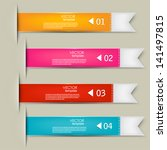set of bookmarks  stickers ... | Shutterstock .eps vector #141497815