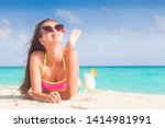 pretty longhaired woman with... | Shutterstock . vector #1414981991