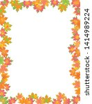 colorful leaves border isolated ... | Shutterstock .eps vector #1414989224