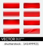 set of blank red buttons | Shutterstock .eps vector #141499921