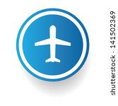 airplane sign vector | Shutterstock .eps vector #141502369