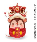 lion head and holding angp.... | Shutterstock .eps vector #1415026244
