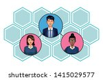 group of three business people... | Shutterstock .eps vector #1415029577