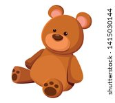teddy bear toy icon cartoon isolated vector illustration graphic design
