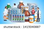 various meds. pills  capsules... | Shutterstock .eps vector #1415040887