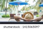 summer resort hotel stay...   Shutterstock . vector #1415065097