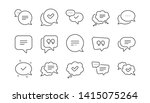chat and quote line icons.... | Shutterstock .eps vector #1415075264