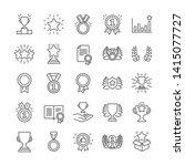 award line icons. set of... | Shutterstock .eps vector #1415077727
